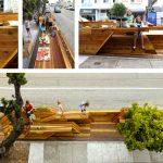 États-Unis : San Francisco: extension du domaine du trottoir